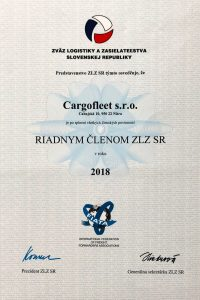 zvaz-logistiky-zasielatelstva-certifikat